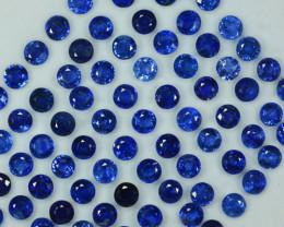 85.90Ct Natural Blue Kyanite Round 6mm Parcel