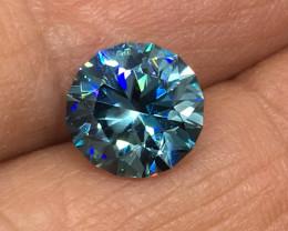4.10 Carat IF Zircon Bahama Blue Master Cut World Class Flawless!