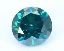 AIG~Cert~1.55 ct Natural Diamond Vivid Greenish Blue