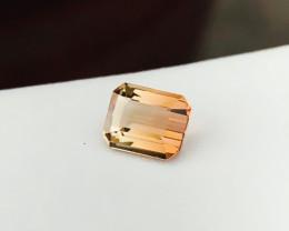 1.35 Ct Natural Bi Color Transparent Tourmaline Ring Size Gemstone