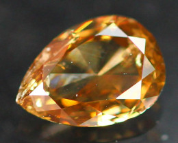 0.43Ct Natural Champagne Pear Cut Diamond  B0507