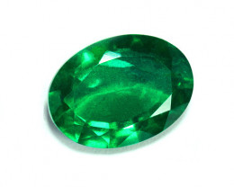 2.02 ct Top Grade Color Top Of The Line Emerald Certified!