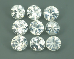 4.15 CTS~EXCELLENT NATURAL WHITE ZIRCON~ ROUND  ~ NICE QUALITY GOOD LUSTER!