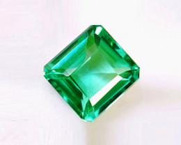 1.45 ct Splendid Zambian Emerald Certified. High-End Stone!