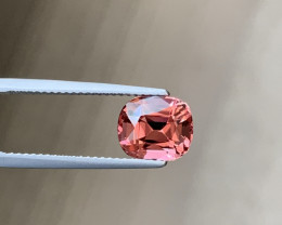 Fine Copper Color Sparkling Tourmaline - 3.18ct Cushion - Near Loupe Clean