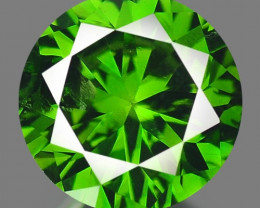 0.72 Cts Excellent Fancy Vivid Green Color Natural Loose Diamond