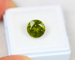 3.83ct Green Peridot Round Cut Lot D211
