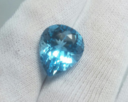 12.90 cts pear Cut Blue Topaz Gemstone