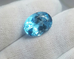 10.60 Cts Beautiful Oval Cut Blue Topaz