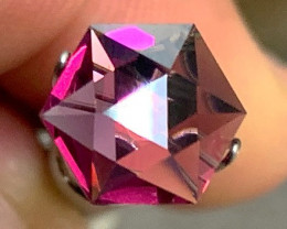 *NR* 2.39 ct Umba River Garnet - Cut by Me - Geometric Tablet 9mm