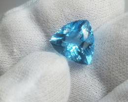 9.55 cts Triangle  Cut Blue Topaz Gemstone