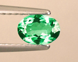 1.14 ct Splendid Natural Zambian Emerald Certified Top Of the Line!