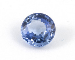 1.03ct. Natural Blue Ceylon Sapphire Round Brilliant Cut