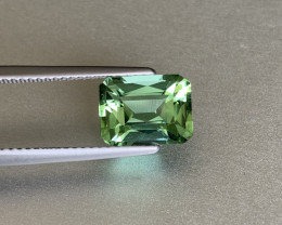 Bright Apple Green Loupe Clean Tourmaline - 3.18ct - Octagon - Namibia