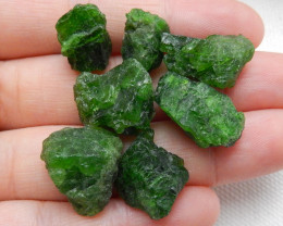87cts Handmade Green Gemstone ,Dioptase Cabochons  ,Lucky Stone C380