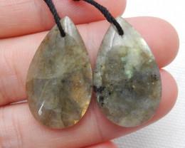 Secskill Handmade Gemstone ,Labradorite Earrings ,Lucky Stone ,Oval Earring