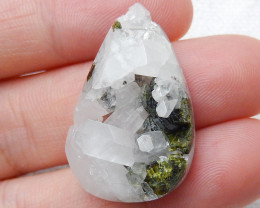 Small Raw Druzy Crystal, Healing Crystal, Natural pyrite Cabochon C370