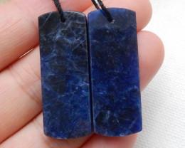 Blue Sodalite Earrings Square earrings beads, stone for earrings making C38