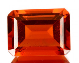 ~FIERY RED~ 1.12 Cts Natural Mexican Fire Opal 8x6 mm Octagon Cut