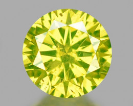 0.30 Cts Fancy Vivid Greenish yellow Color Loose Diamond