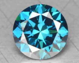 0.48 Cts Fancy Vivid Blue Color Natural Loose Diamond