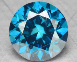 0.47 Cts Fancy Vivid Blue Color Natural Loose Diamond