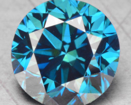 0.46 Cts Fancy Vivid Blue Color Natural Loose diamond sI1