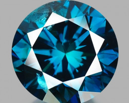 0.46 Cts Fancy Vivid Blue Color Natural Loose diamond sI2