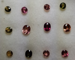 12 PCS 10.05 CTS NATURAL STUNNING TOURMALINE LOT FROM MOZAMBIQUE