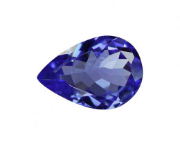 1.03 ct Gorgeous Top Color IF Natural Tanzanite Certified