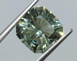 5.56 Carat VVS Prasiolite - Mint Green Amethyst Master Cut Fabulous!