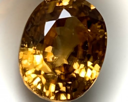 3.03ct Orange Bronze Zircon VVS