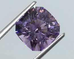 4.48 Carat VVS Amethyst Rose De France Untreated Master Cut !