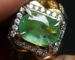 47.15 CT Beautiful Zambian Emerald Ring Jewelry