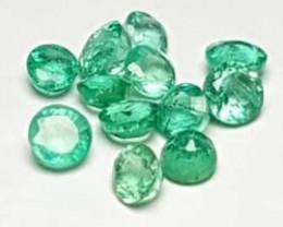 12 pieces Lot Clean Emerald