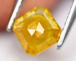 0.75Ct Natural Untreated Yellow Fancy Diamond A0802