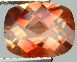 ~RARE~ 1.81 Cts Natural Sunset Orange Sunstone Andesine Cushion 9x7mm Congo