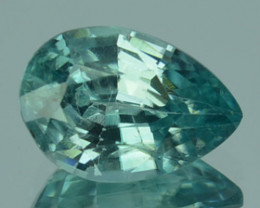 Natural Nice Blue Zircon Pear Cut Cambodia 1.70 Cts