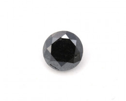 CERTIFIED 1.7ct. BLACK DIAMOND ROUND CUT