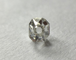 0.07ct Old English Square Cut VVS Light Grey antique / vintage diamond
