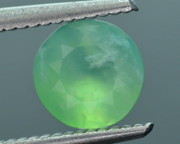 Peruvian Green Opal 1.24  ct AAA Rare Untreated/Unheated SKU.1