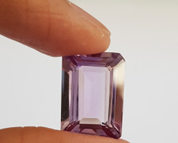 13.01 ct Certified Natural Amethyst Octagon #G0067c