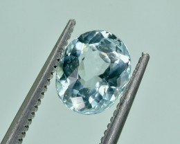 1.25 Crt Natural Aquamarine Faceted Gemstone.( AG 40)
