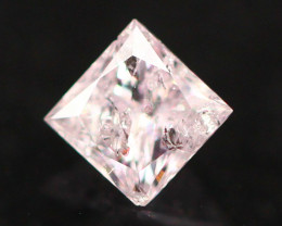 0.19Ct Natural Pink Diamond Princess Cut E0902