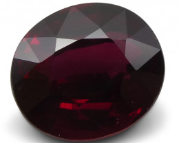 2.08 ct GIA Certified Unheated Red Ruby
