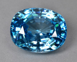 16.70 Cts Gorgeous Beautiful Natural Cambodian Blue Zircon
