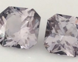 Pretty 6.5mm Flanders Cut Grey Spinel Pair - Burma. G542 HME10HME11