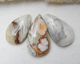 Crazy Lace Agate Cabochon, Natural Crazy Lace Agate Loose Gemstone, Amazing