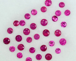 1.02Ct Natural Ruby(Gentle Heat) Round 1.50mm Parcel