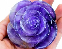 Genuine 1345 cts Purple Amethyst Rose